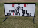 Sign Letters Message Board
