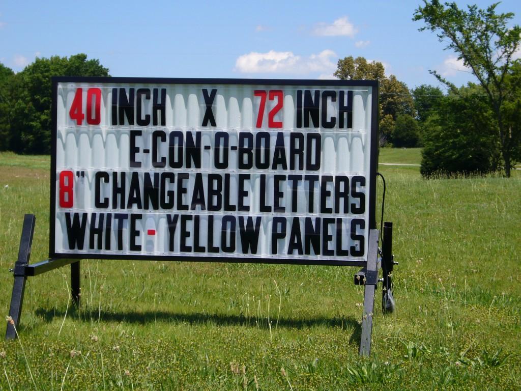 Model e 6 outdoor sign outdoorletterscom for Outdoor reader board letters