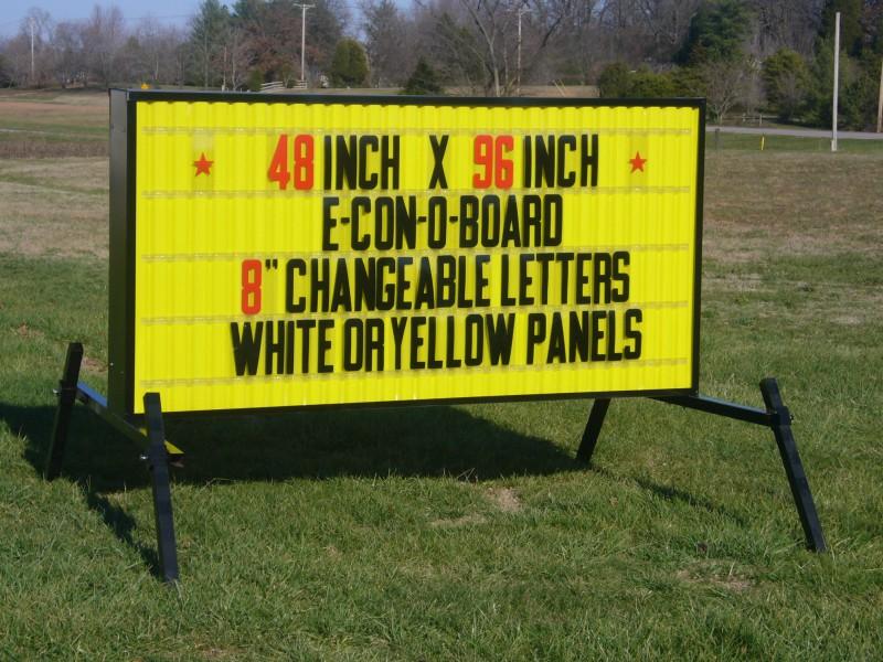 model e 8 outdoor sign