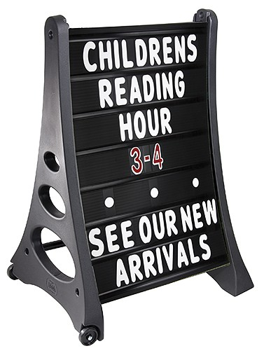 inch letters for changeable sidewalk signs qla black message board sign outdoorletters 2