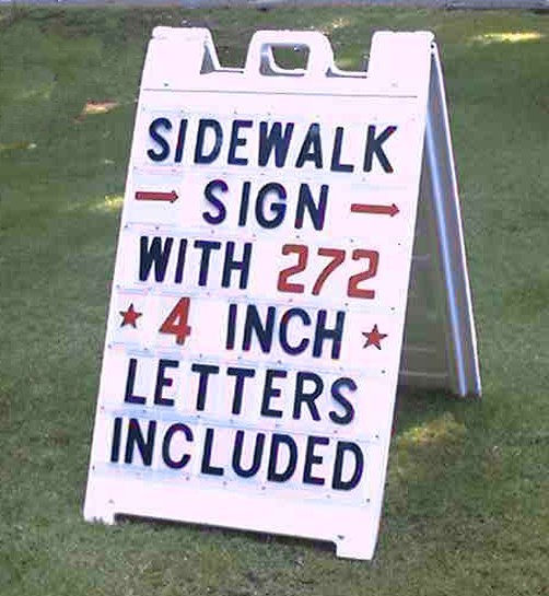 folding sidewalk sign